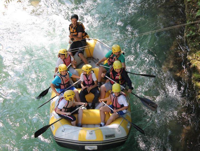 rafting sul fiume aniene in famiglia con l'offerta di Green Park Madama