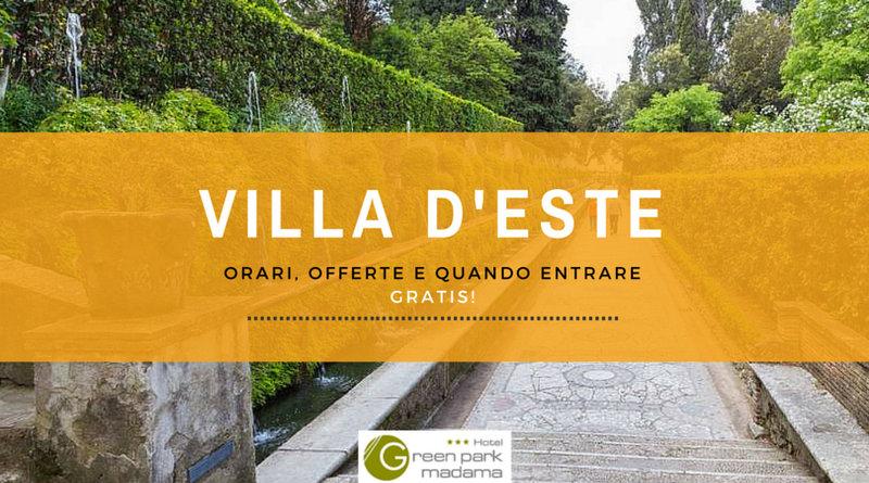 Orari Apertura Villa D Este