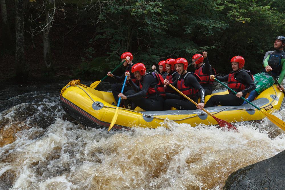 Viaggi di gruppo rafting