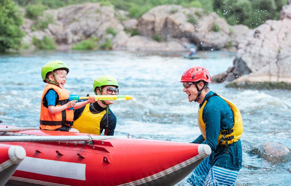 vacanze per bambini rafting